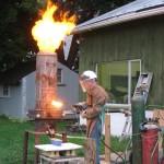 Cupola iron furnace
