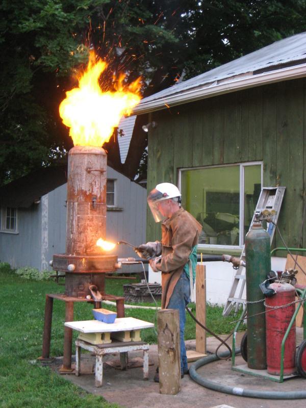 Backyard Iron Furnace Paul Ganter