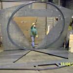 Welders assemble baseplate