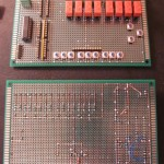 Two breadboards mostly complete