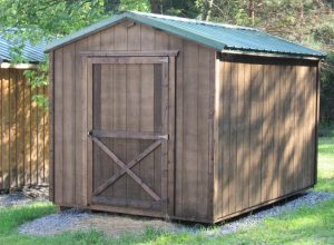 Finished storage shed